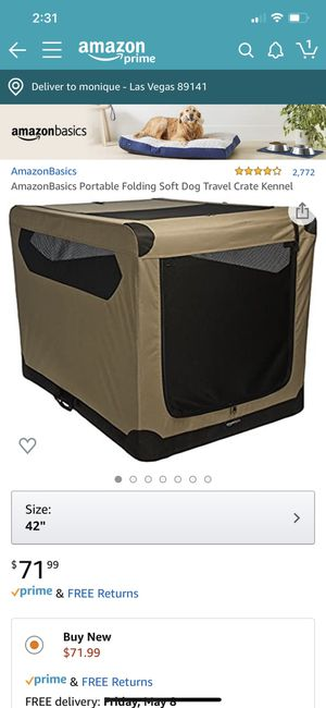 Large Dog portable crate for Sale in Las Vegas, NV