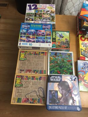 Game & Puzzle plus Wooden Beads Lot for Sale in Thornton, CO
