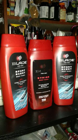 Men's body wash sport clean and stride body wash compared to Old Spice $2.50 each or all 3 for $7 for Sale in Tampa, FL