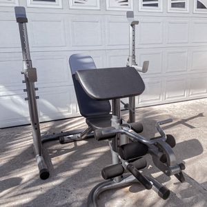 Brand new in box xrs20 olympic squat rack weight bench press adjustable bench combo (not negotiable) for Sale in Chula Vista, CA