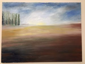 """Oil painting canvas 40"""" for Sale in Englewood, NJ"""