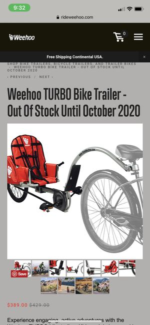 Weehoo kids bike trailer for Sale in Fort Lauderdale, FL