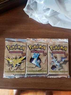 3 Pokemon Fossil Packs for Sale in Rootstown, OH