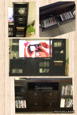 Hardwood TV stand & 2 bookshelves (entertainment center) for Sale in Scottsdale, AZ