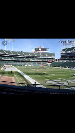Raiders vs rams tickets 8/10 for Sale in Fremont, CA