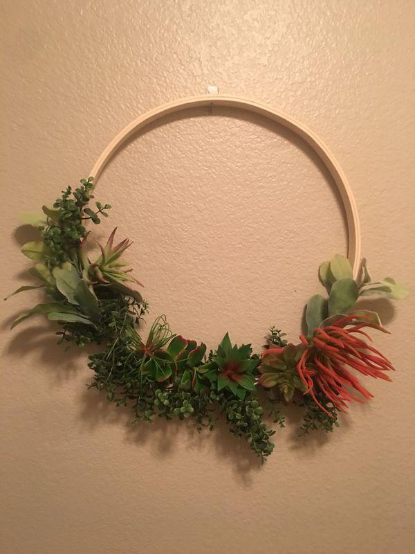 Succulent Hoop Wreath