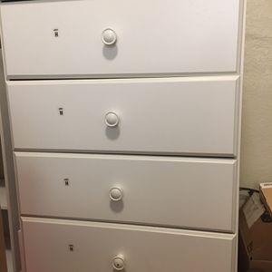 White 4 Drawer Dresser for Sale in San Jose, CA