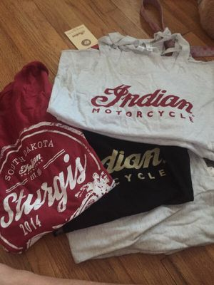 Ladies Indian Motorcycle shirts/tanks for Sale in Palm Harbor, FL