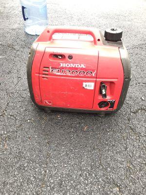 Honda eu2000 gasoline invertor generator ~ in great working condition for Sale in Arlington, VA