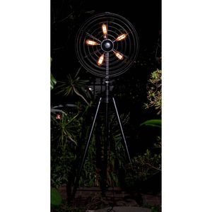 Five-light Industrial Whimsical Iron Fan Large LED Floor Lamp for Sale in Compton, CA