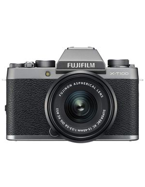 Fujifilm X-T100 Mirrorless Digital Camera w/XC15-45mmF3.5-5.6 OIS PZ Lens - Dark Silver for Sale in Beverly Hills, CA
