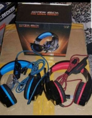 Gaming LED Light MIC Headset CellPhone Headphone For 3.5mm jack PS4/Xbox One - Kotion Each G9000 for Sale in Las Vegas, NV