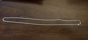 Brand New Sterling Silver Rope Chain for Sale in Pleasant Hill, IA