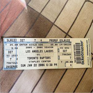 Kobe Ticket 🎫 for Sale in El Monte, CA