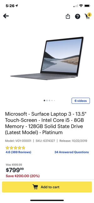 "Microsoft- surface laptop 3 - 13.5"" touchscreen new unopened for Sale in Covina, CA"