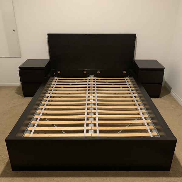 MALM Full Bed Frame with Two Drawers