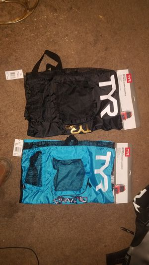 TYR! 2 NEW TYR MESH BACKPACKS. TAGS STILL ON THEM. ONE BLACK ONE BLUE ASKING $15 EACH OR BEST OFFER! for Sale in Lakewood, CA