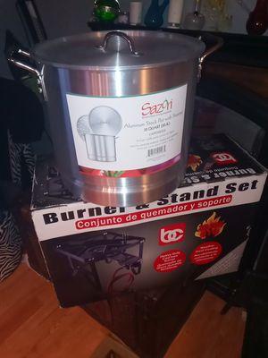 Steamer pot burner stand set for Sale in Rialto, CA