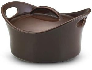 Rachael Ray Stoneware 2-3/4-Quart Covered Bubble and Brown Casserround Casserole Chocolate Brown Baking Dish for Sale in Tampa, FL