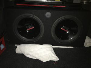 Mtx thunder 6000 in bassworks ported box !!! for Sale in Orting, WA
