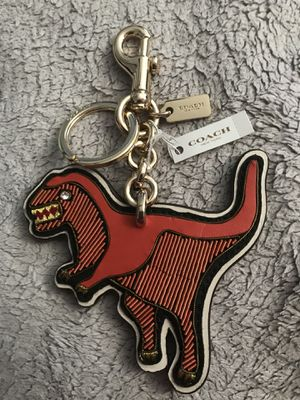 COACH ORANGE REXY DINOSAUR KEY CHAIN KEY FOB RING CHARM F58494 $145 NEW NWT for Sale in San Diego, CA