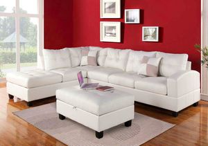 New Kiva white red or espresso leather sectional sofa couch for Sale in Anaheim, CA