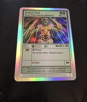 Sailor Moon CCG Holo Foil Insectia Card 7 of 9 for Sale in Westerville, OH
