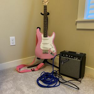 Fender Squire Mini Guitar Set $175 OBO for Sale in Lake Oswego, OR