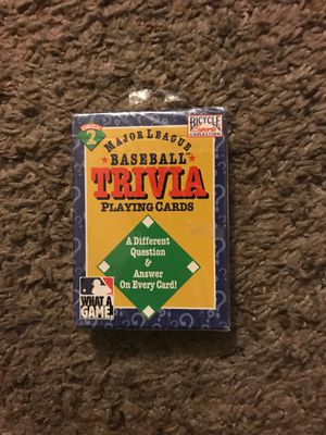 Major League Baseball Trivia Playing Cards 1996 for Sale in Dallas, TX