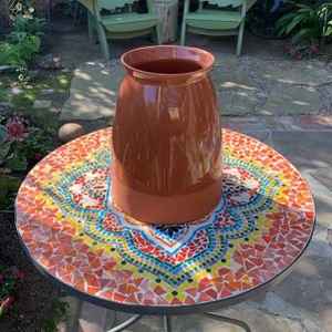 West Elm Glazed Boho Terracotta Vase/Pot for Sale in Los Angeles, CA