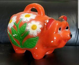 "Large 20"" Vintage Mid Century Retro Chalkware Plaster Piggy Bank Pig Bear Statue for Sale in Orange City, FL"