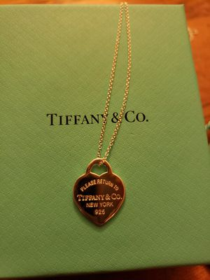 Tiffany Heart Pendant Necklace for Sale in Santa Ana, CA