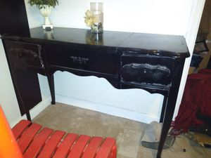 Black Lacquer Antique Style Desk for Sale in College Park, GA