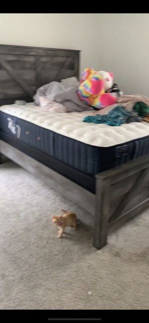 Gray Bed Frame for Sale in Fayetteville, NC