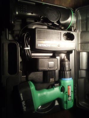 HITACHI DS 14v drill an flashlight set for Sale in Mobile, AL