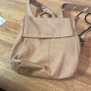 Leather baige cream backpack/purse for Sale in Glen Ellyn, IL