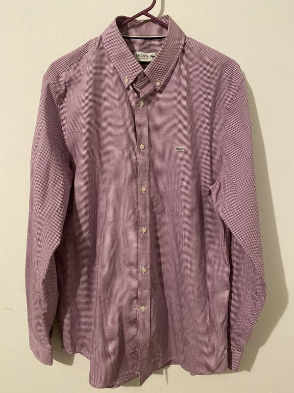 Lacoste Dressing Shirt New Size 16 1/2 (Large) Regular fit