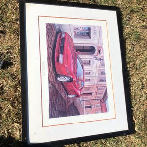 Art Print Of Ferrari Car, Signed By Artist for Sale in Hawaiian Gardens, CA