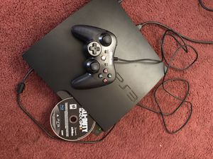 PS3 with black ops 2/ wired controller for Sale in Fontana, CA