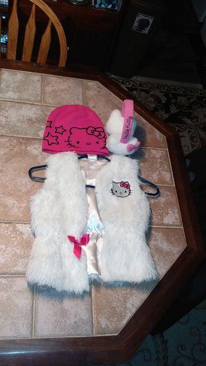 Hello Kitty 3 item lot !! Vest earmuffs winter hat !!! for Sale in Pottstown, PA