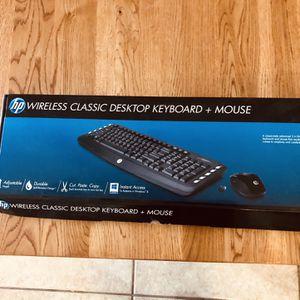 HP Wireless Classic Desktop Keyboard & Mouse for Sale in Phoenix, AZ