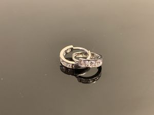14k White Gold & Diamond Earrings for Sale in Chicago, IL