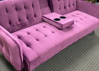 Warehouse Sample Sofa Bed For Sale -purple Color for Sale in La Puente,  CA