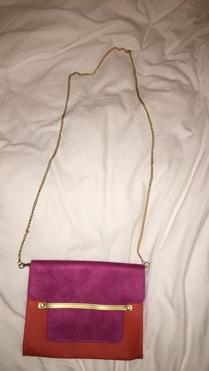 Gold chain bag suede &leather material for Sale in Portland, OR