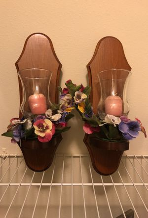 Decorative wall mount candle holders for Sale in Annapolis, MD