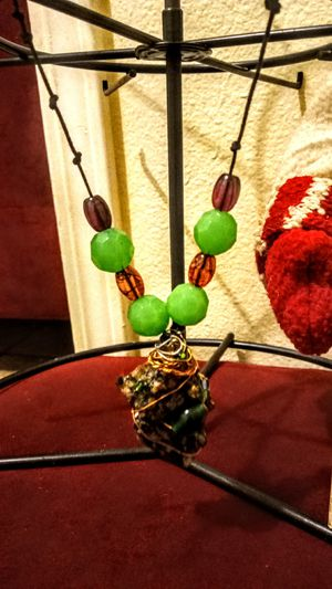 Home made wire wrapped rock necklace for Sale in Colton, CA