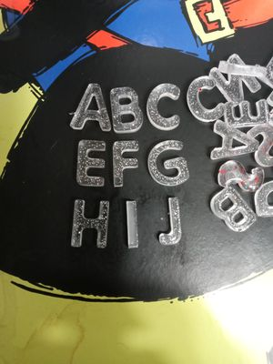 The Alphabet x2 52 letters epoxy glitter make Great for crafts for Sale in Lake Wales, FL