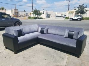NEW 7X9FT BARCELONA CHARCOAL FABRIC COMBO SECTIONAL COUCHES for Sale in Las Vegas, NV