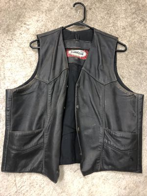 Leather Motorcycle Vest for Sale in Portland, OR