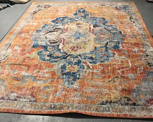 Safavieh Bristol Collection Distressed Vintage Classic Rug, 8' x 10', Blue/Orange for Sale in Glendale, AZ